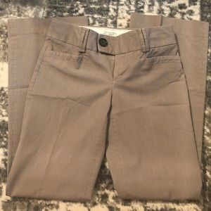 Light Brown Stripped Banana Republic Trousers